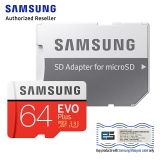 SAMSUNG MICRO SD W/ADPT 64GB EVO PLUS
